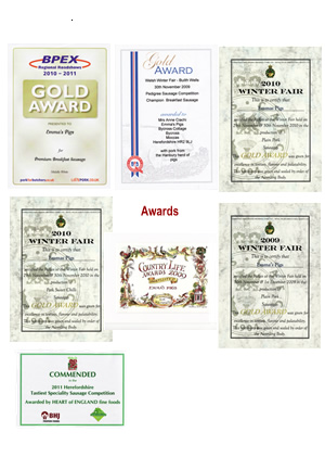 A Selection of our awards